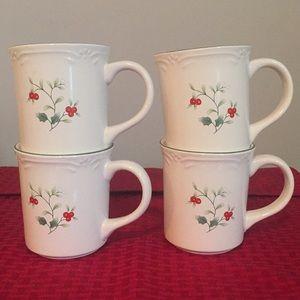 4 - Pfaltzgraff Winterberry Mugs